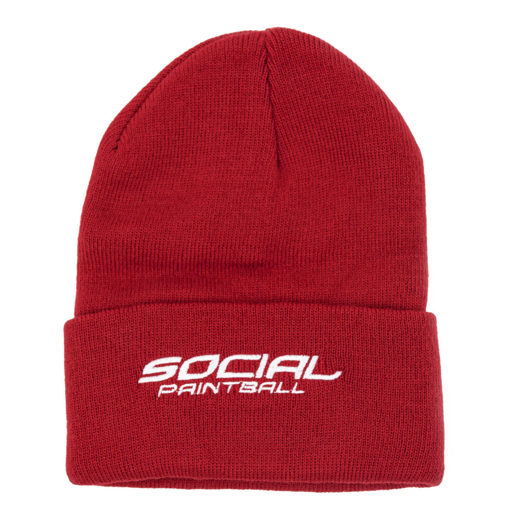 Social Paintball Beanie (Red)