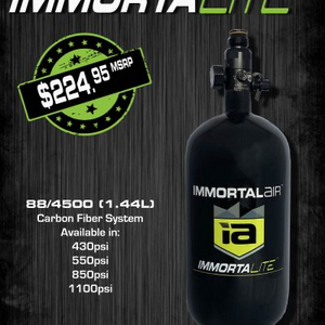 Immortal Air™ ImmortaLITE™ 88/4500 Carbon Fiber Complete System