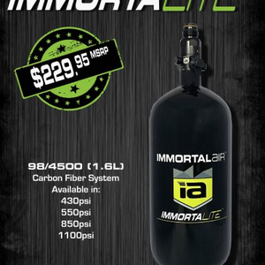 Immortal Air™ ImmortaLITE™ 98/4500 Carbon Fiber Complete System