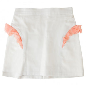 ABI SIDE RUFFLE SKIRT (Ecru)