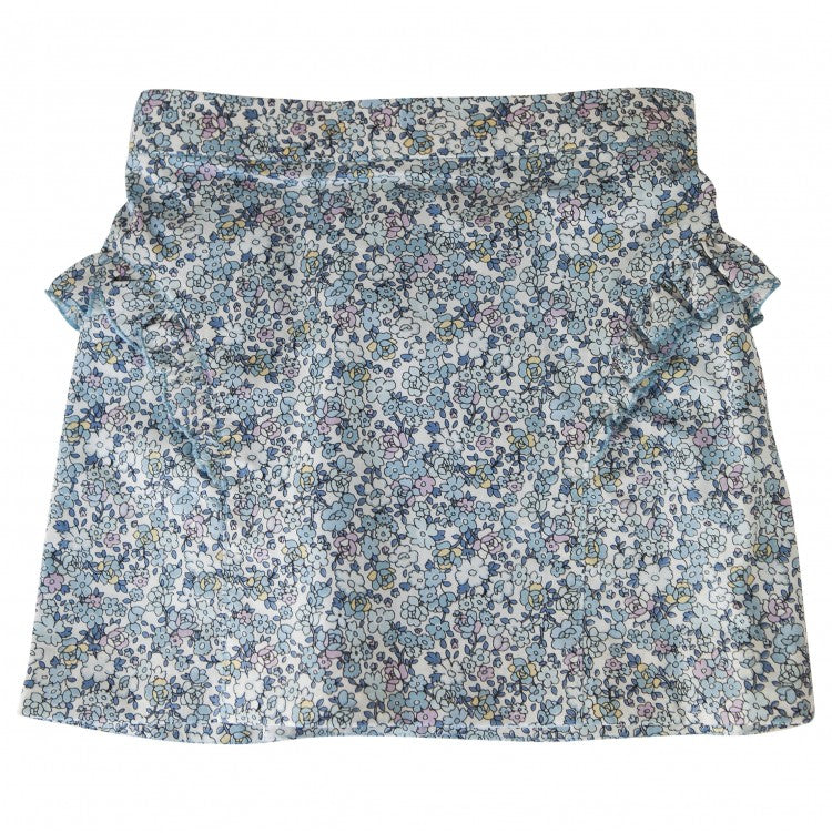 ABI SIDE RUFFLE SKIRT (Flowers)