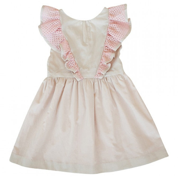 ANNA RUFFLE DRESS (Off white)