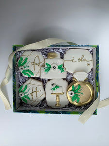 Wedding Cookie set- Wedding Cookie gift, customize your own initials