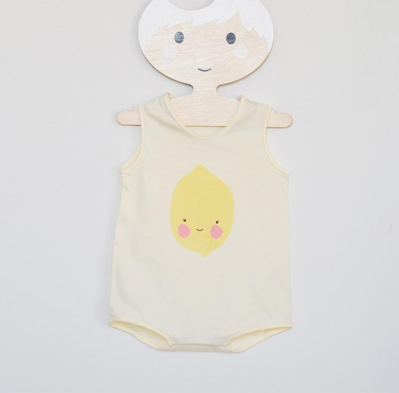 Snap Onesie Lemon/ Organic