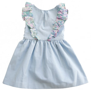 ANNA RUFFLE DRESS (Chambray)