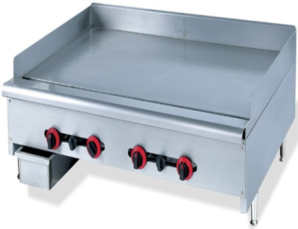 GRILLER FLAT TOP GAS 1200MM - HEAVY DUTY FLOOR STANDING - cater-care