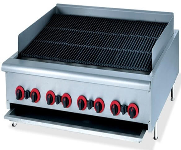 CHAR BROILER 1200MM GAS COUNTER MODEL - cater-care