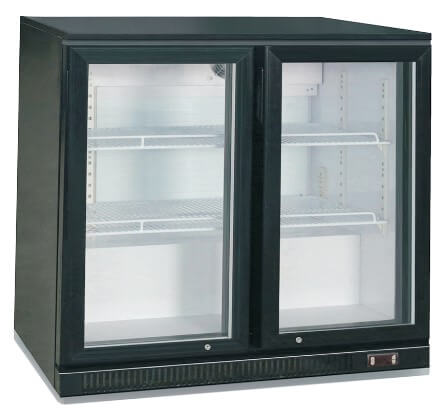 2 DOOR 900MM BEER FRIDGE 900X 505X 890H SLIDING DOOR - cater-care
