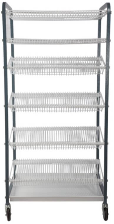 CROCKERY RACK 400 PIECE MOBILE 152 LARGE PLATES+152 SMALL PLATES 2 CUP RACK - cater-care