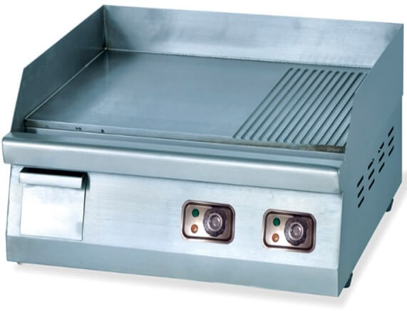 GRILLER ½ FLAT & ½ RIBBED - 600MM COUNTER TOP - cater-care