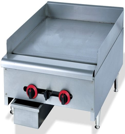 GRILLER FLAT TOP GAS 600MM - HEAVY DUTY FLOOR STANDING - cater-care
