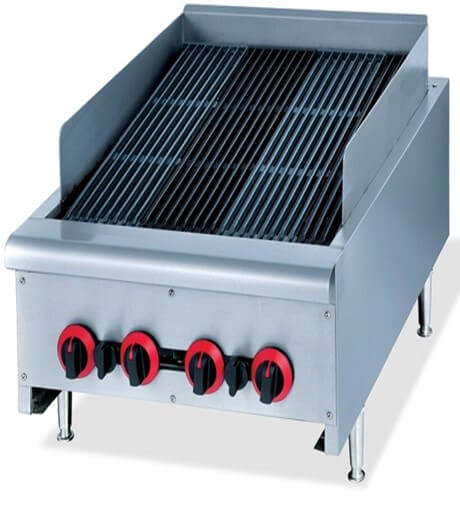 CHAR BROILER 600MM GAS - HEAVY DUTY FLOOR STANDING - cater-care