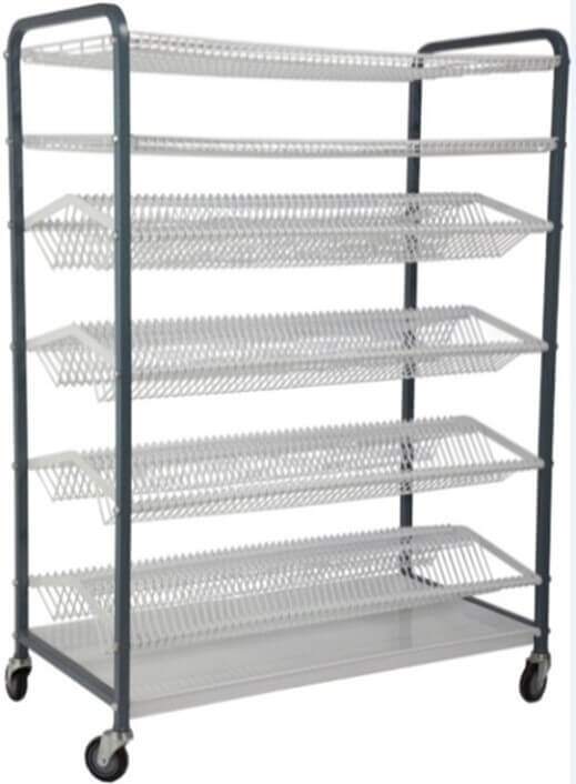 CROCKERY RACK 600 PIECE MOBILE 212 LARGE PLATES+212 SMALL PLATES 2 CUP RACK - cater-care