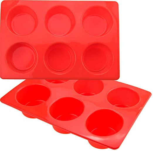 SILICON MUFFIN TRAY - 6 CUP 70 X 45CM - cater-care
