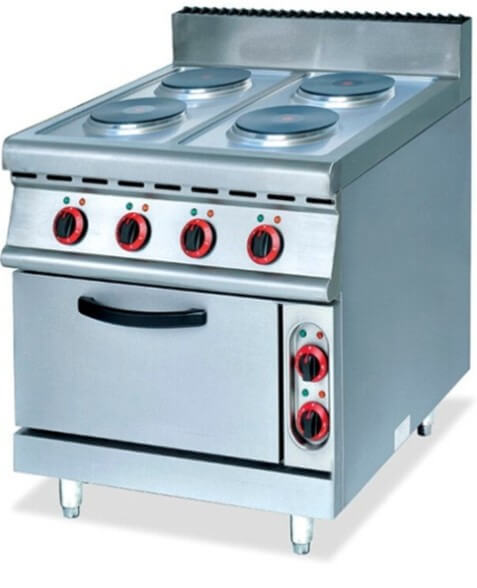700 RANGE - ELECTRIC 4 PLATE WITH ELECTRIC OVEN - cater-care