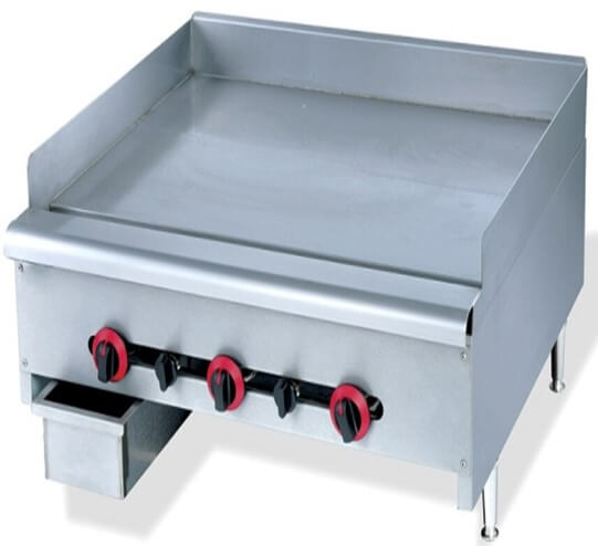 GRILLER FLAT TOP GAS 900MM - HEAVY DUTY FLOOR STANDING - cater-care