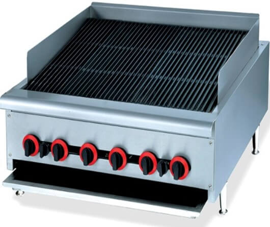 CHAR BROILER GAS  900MM COUNTER MODEL - cater-care