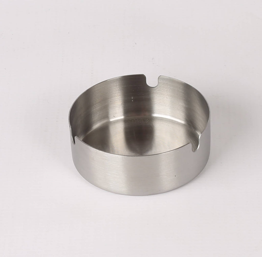 S/STEEL ASHTRAY ROUND - SMALL- 80MM - cater-care