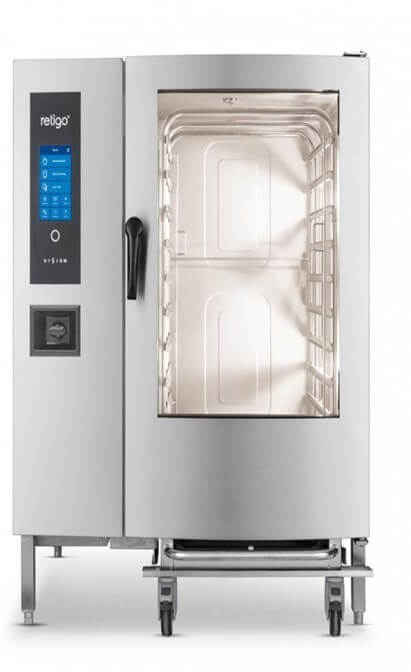 COMBI STEAMER - 12 PAN - BLUE - BOILER - ELECTRIC - cater-care