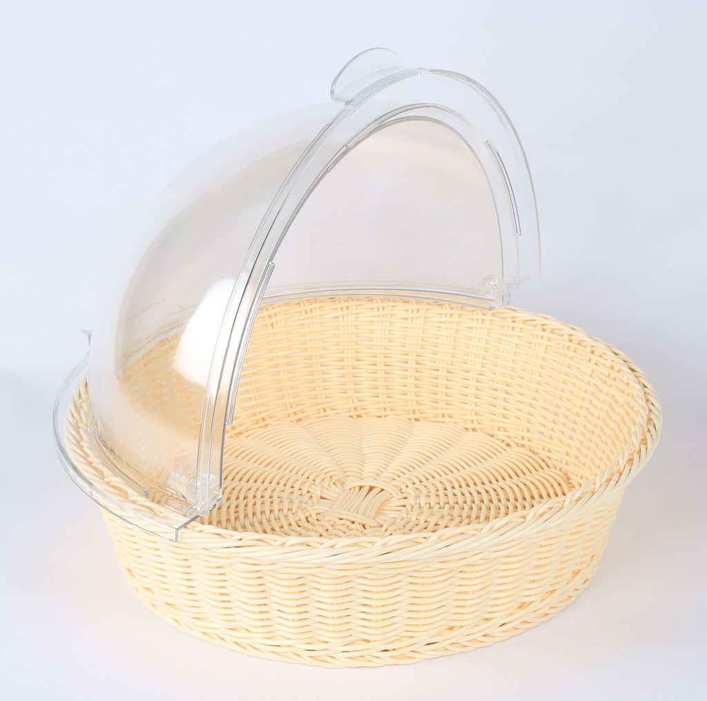 BREAD BASKET WITH DOME ROUND - cater-care