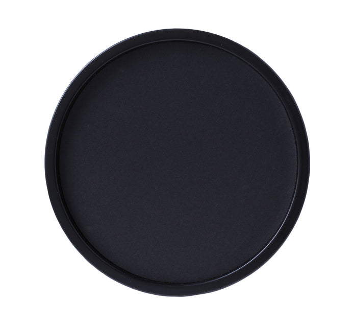 TRAY ROUND PLASTIC – BLACK - cater-care