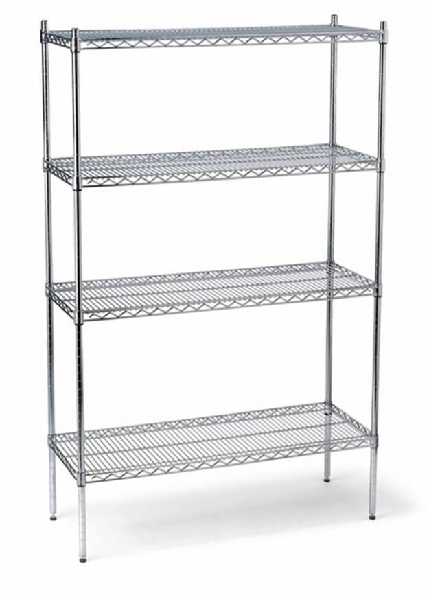 4 TIER CHROME 1200 X 450 SHELVING - cater-care