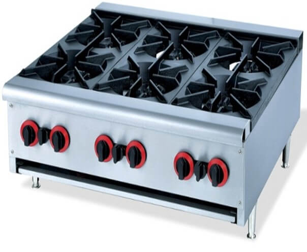 BOILING TABLE 6 BURNER FLOOR MODEL - cater-care