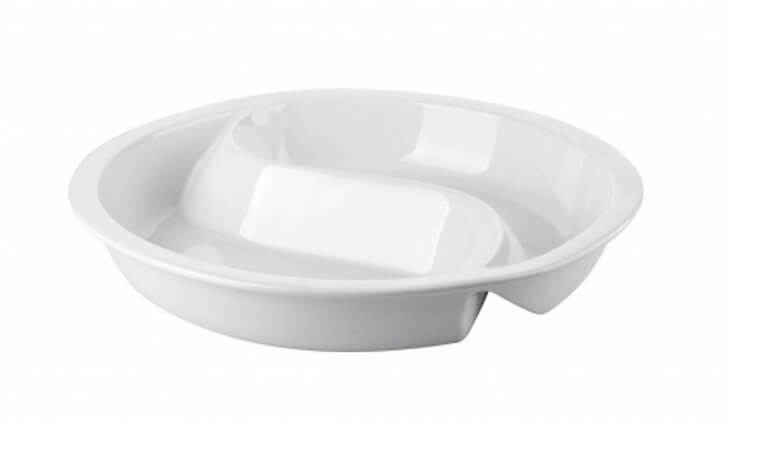 CERAMIC INSERT DIVIDED ROUND GN PAN DIVIDED - cater-care