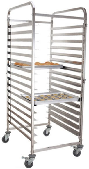 DOUBLE BAKING TRAY TROLLEY 15 TIER - cater-care