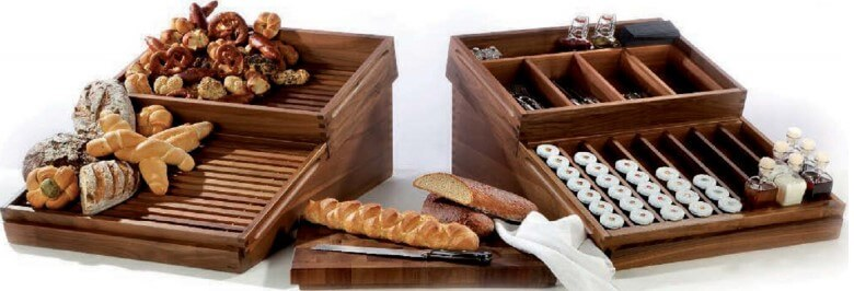 DISPLAY WOODEN SET FOR PASTRY CUTLERY & CONDIMENTS - cater-care