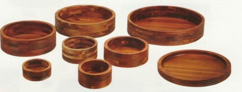 WOODEN ROUND RECESSED DISPLAY   SHORT LIP - cater-care