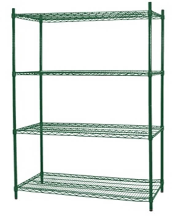 4 TIER EPOXY 900 X 450 SHELVING - cater-care