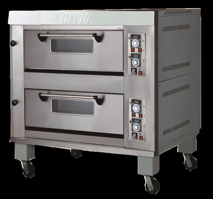 DOUBLE DECK GAS OVEN - 4 TRAYS - cater-care