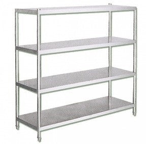 4 TIER S/STEEL SHELVING UNIT - cater-care