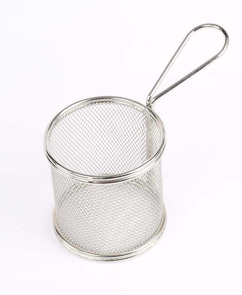 MINI BASKET ROUND S/STEEL - 90 x 90MM - cater-care