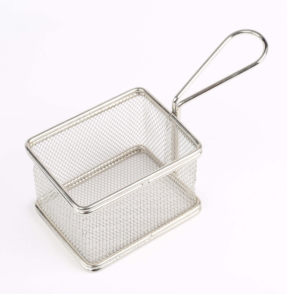 MINI BASKET SQUARE S/STEEL - 130 x 110 x 80MM - cater-care