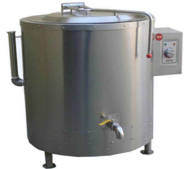 OIL JACKETED BOILING POT - 225LT - GAS (OIL SOLD SEP) - cater-care