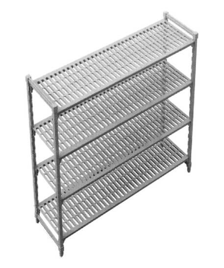 910 X 450MM X 1800H PLASTIC SHELVING - cater-care