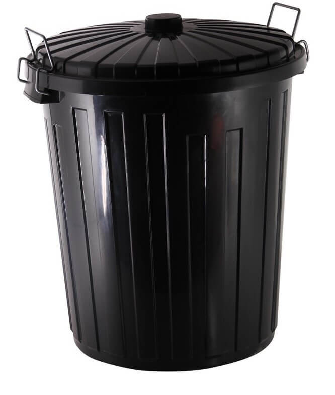 REFUSE BIN BLACK 73LT   INCLUDES LID - cater-care