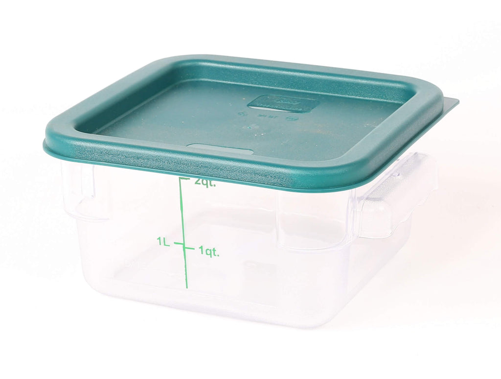 STORAGE CONTAINER CLEAR SQUARE   180 x 180 x 90MM 2QT - Cater-Care