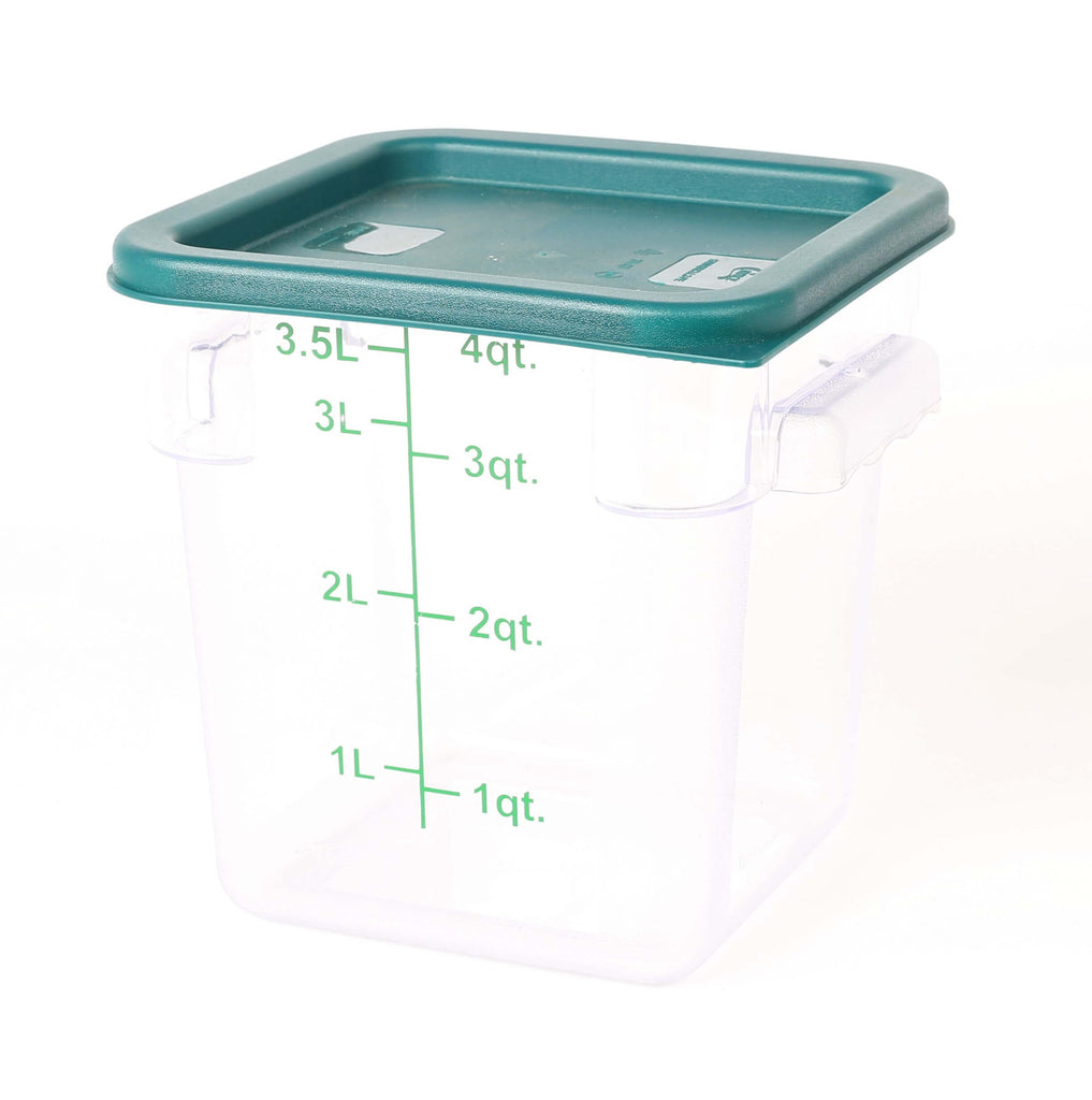 STORAGE CONTAINER CLEAR SQUARE   180 x 180 x 180MM 4QT - cater-care