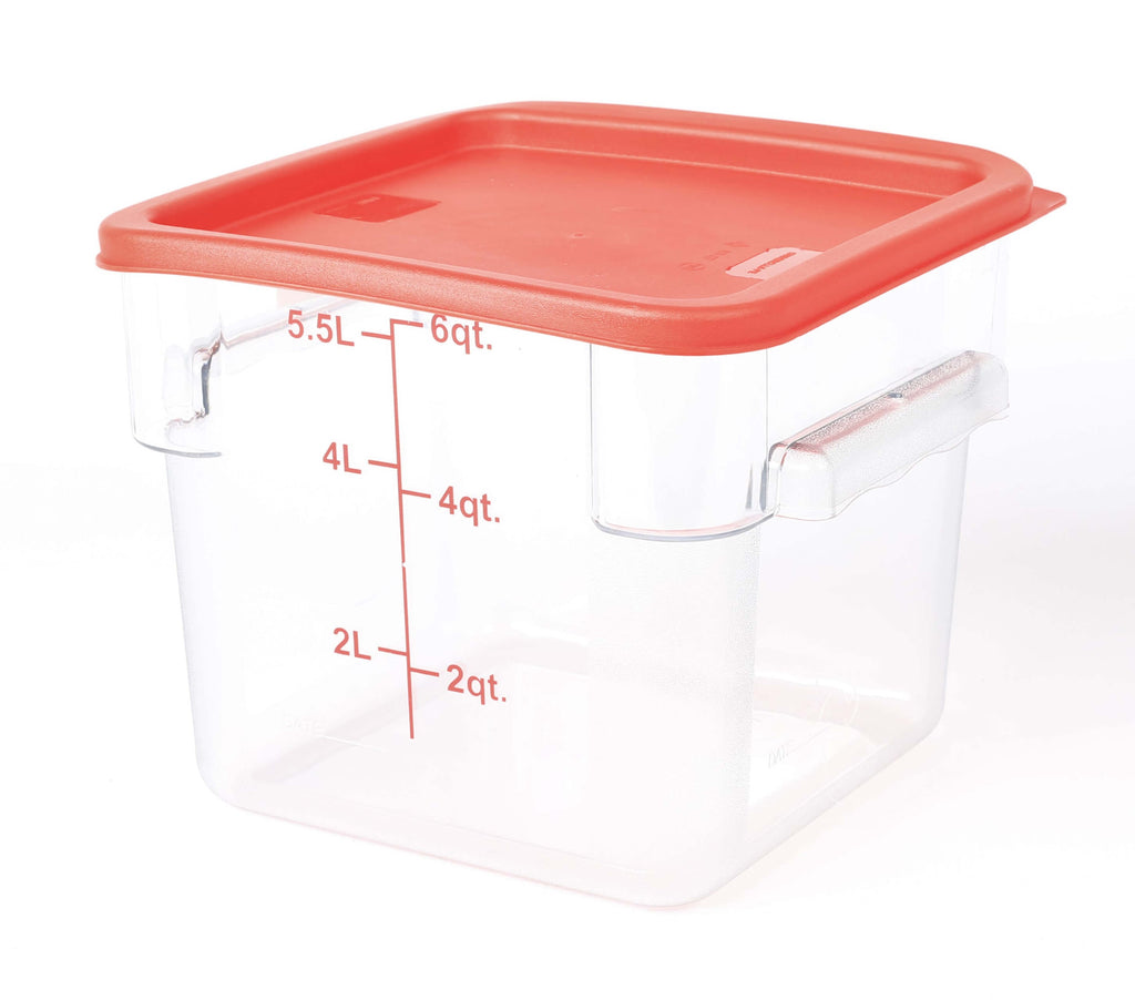 STORAGE CONTAINER CLEAR SQUARE   220 x 220 x 185MM 6QT - cater-care