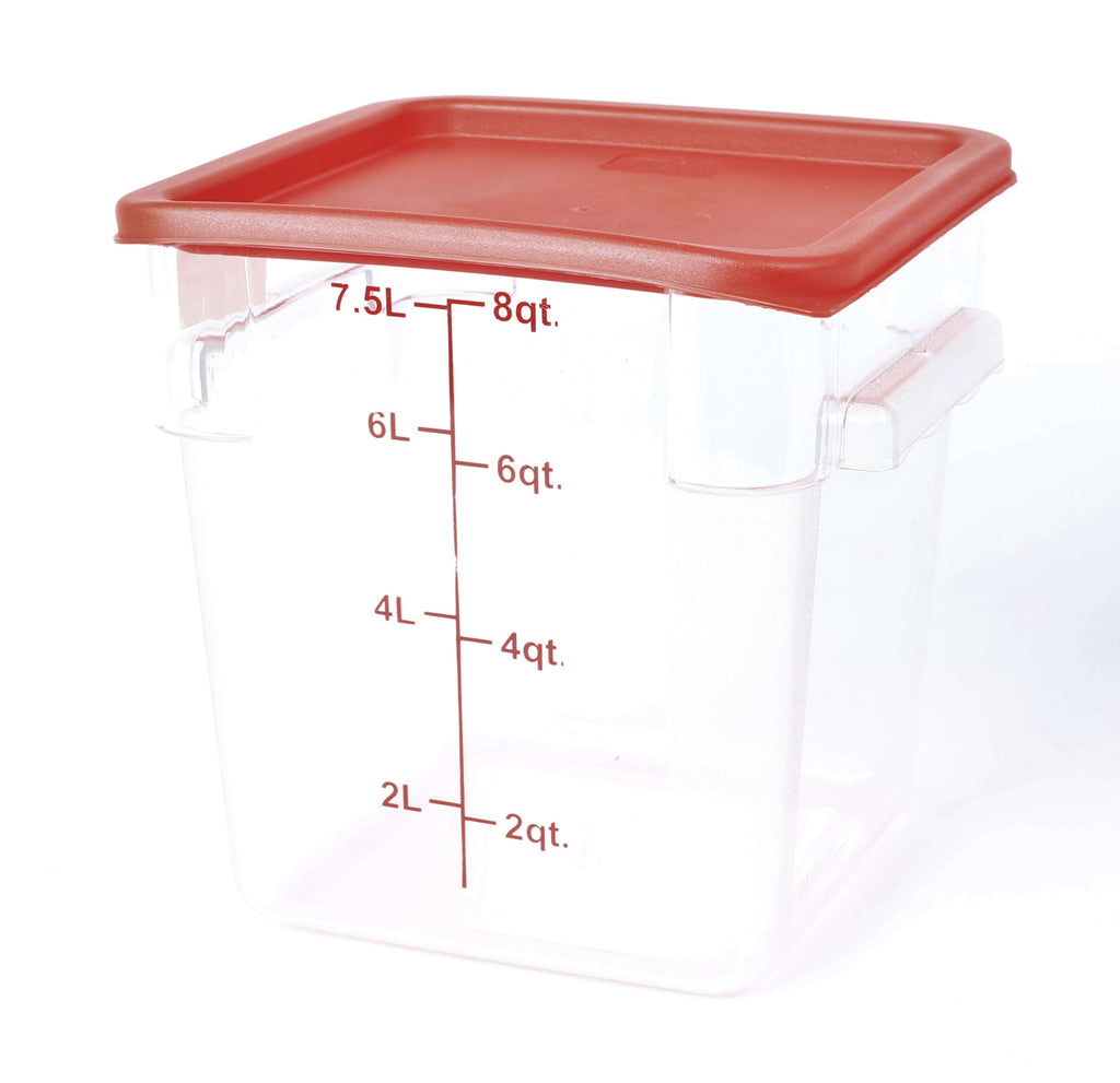 STORAGE CONTAINER CLEAR SQUARE   220 x 220 x 230MM 8QT - cater-care
