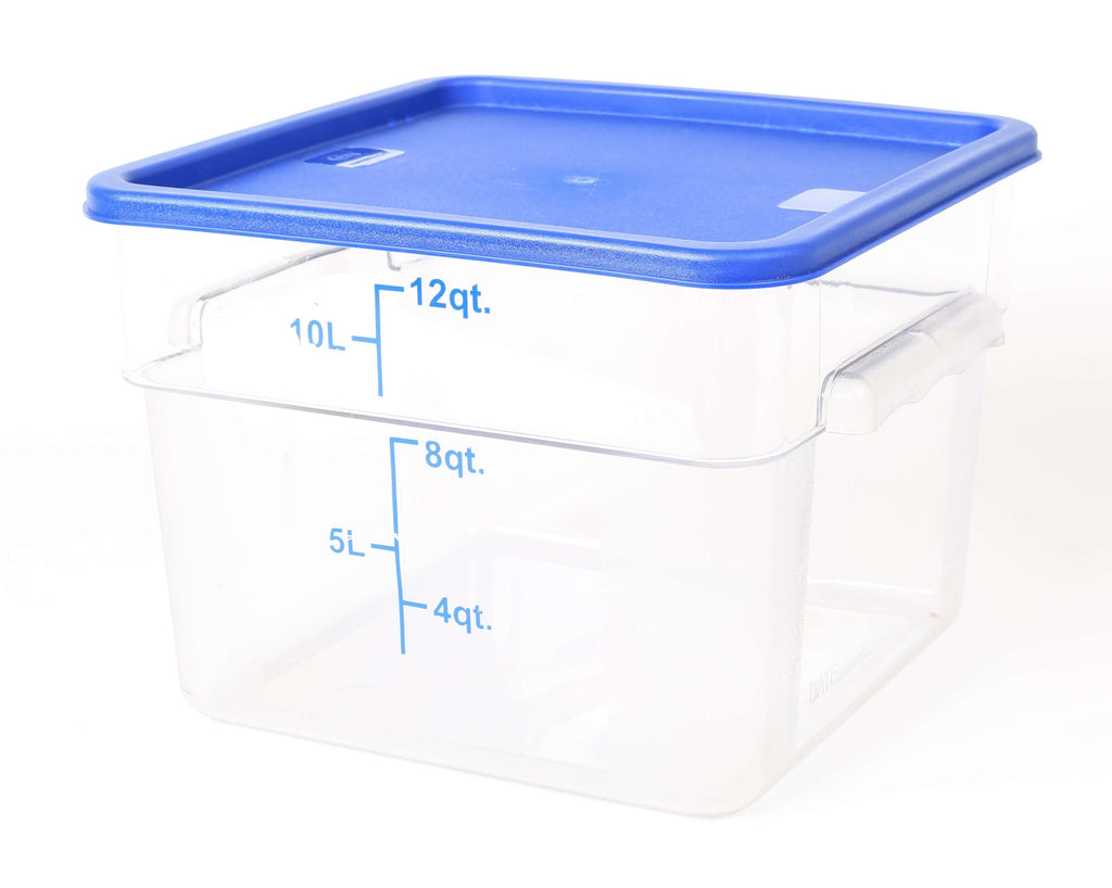 STORAGE CONTAINER CLEAR SQUARE   280 x 280 x 200MM 12QT - Cater-Care