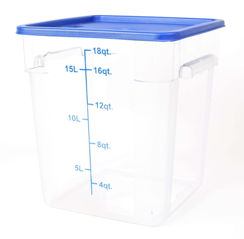 STORAGE CONTAINER CLEAR SQUARE   280 x 280 x 320mm 18QT - cater-care