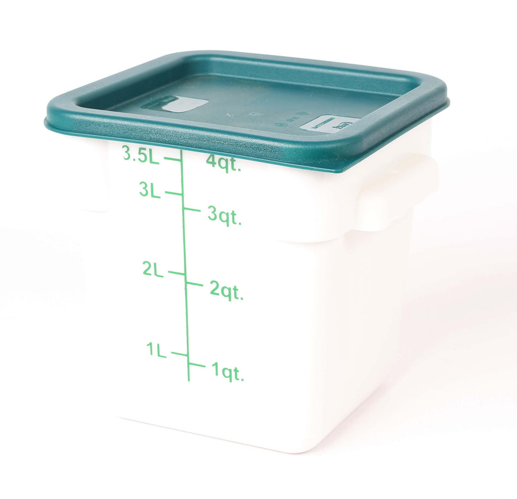 STORAGE CONTAINER WHITE SQUARE   180 x 180 x 180MM 4QT - cater-care