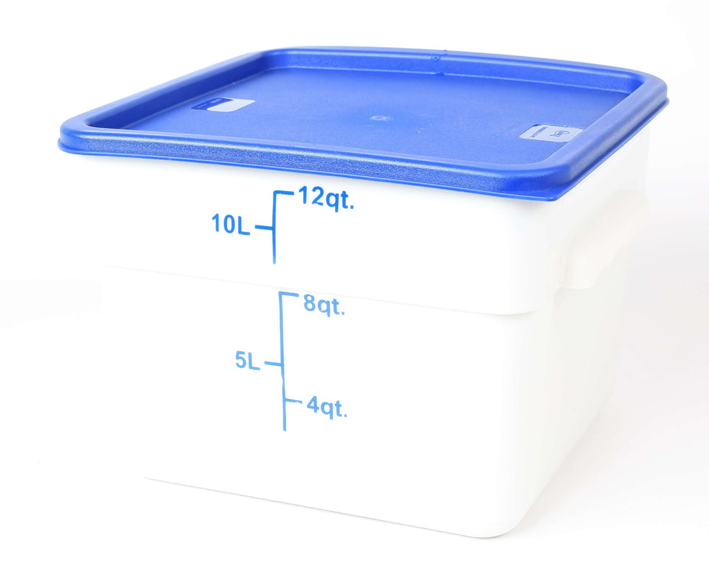 STORAGE CONTAINER WHITE SQUARE   280 x 280 x 200MM 12QT - Cater-Care