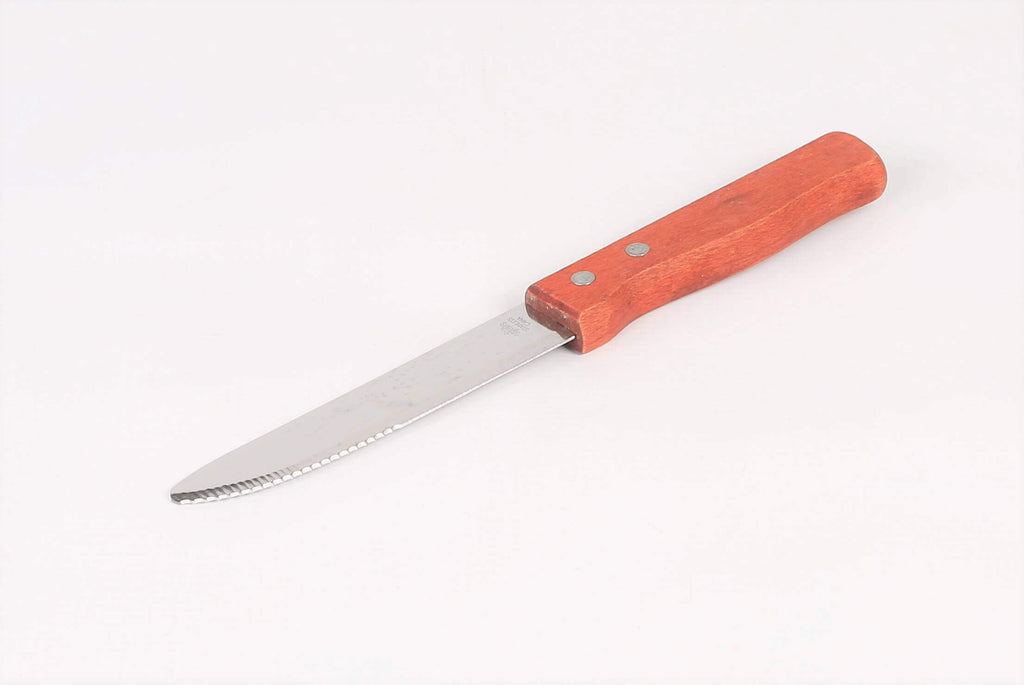STEAK KNIFE  WOODEN HANDLE  127MM - cater-care
