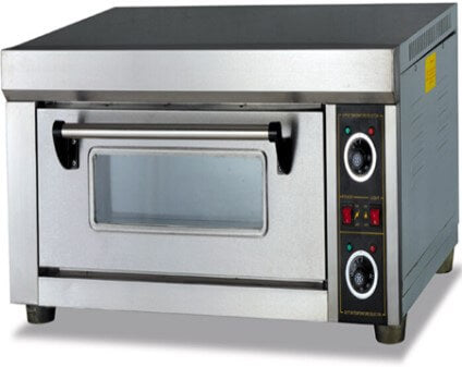 SINGLE DECK 1 TRAY PIZZA OVEN WITH CERAMIC FLOORS- EXCLUDES TRAYS - cater-care