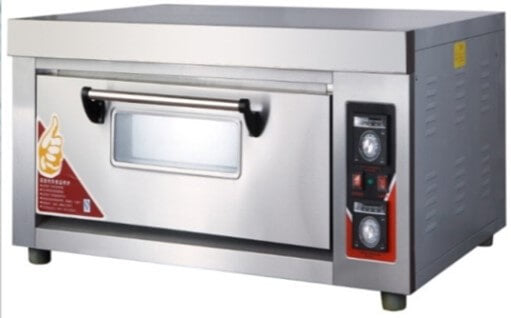 SINGLE DECK 2 TRAY PIZZA OVEN WITH CERAMIC FLOORS - EXCLUDES TRAYS - cater-care